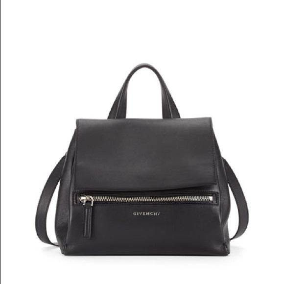 edca86e8b9 Givenchy Pandora Pure Black Pebbled Leather Tote. M 5a9f43e9a4c485bb5562791c